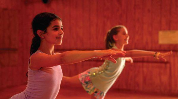 Girl Campers Practice Ballet