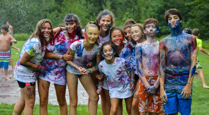 Campers covered in paint during special event
